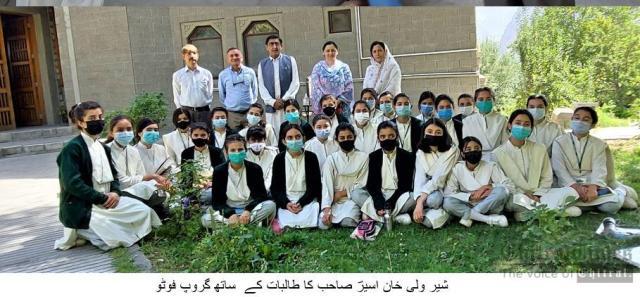 chitraltimes inayatullah aseer visit hunza aks school 1