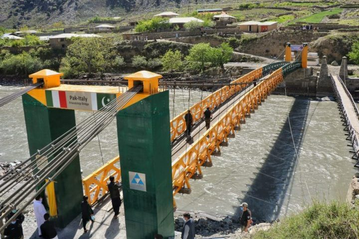 Pak-Italy friendship bridge opened