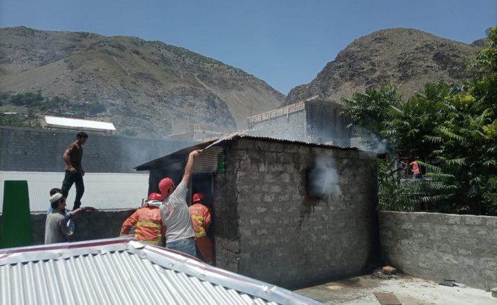 Fire erupts in hostel kitchen