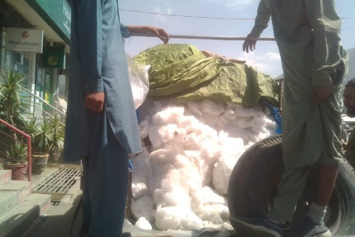 Natural ice sale in Chitral