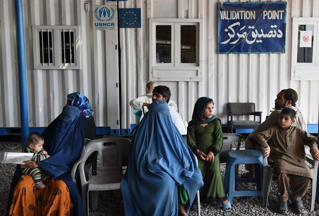 Arandu crossing for afghan refugees