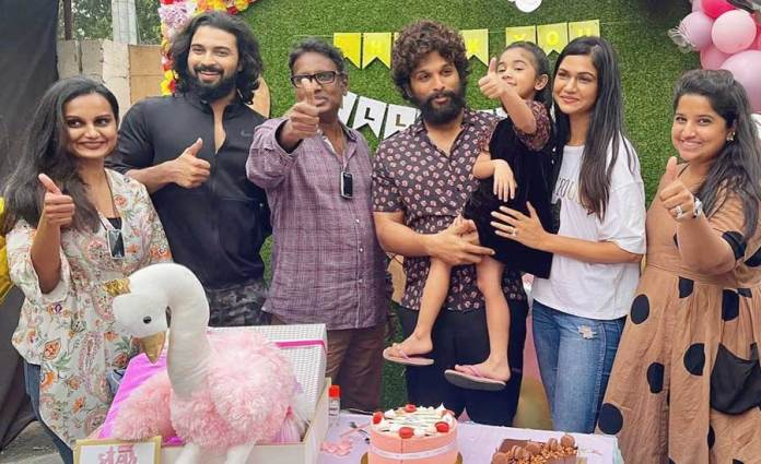 Allu Arha wraps up Shaakuntanlam, gets a thank-you party