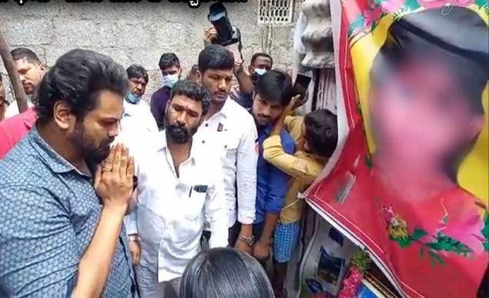 Actor Manchu Manoj Visited the Family Members of Molested Child in Saidabad Singareni Colony