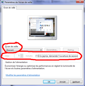 Windows 7 screen saver settings