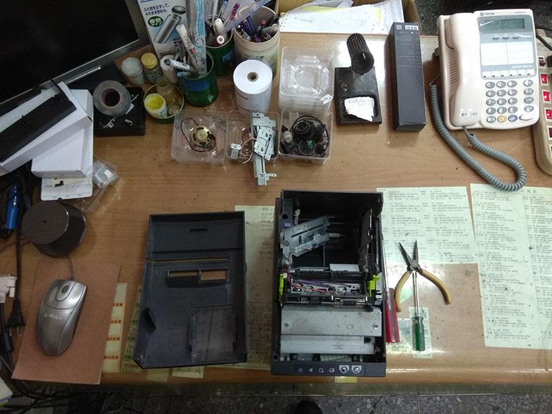 維修服務(POS,POS週邊,熱感收據機,發票機,支票機,打卡鐘)