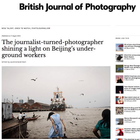 British Journal Of Photography August  The Journalist Turned Photographer Shining A Light On Beijings Underground Workers