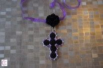 Cross rose necklace +°+ Collier croix rose