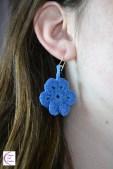 Blue flower earrings +°+ Boucles d'oreilles fleur bleue