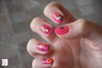 Dotted flower nail art +°+ Nail art à fleurs à pois