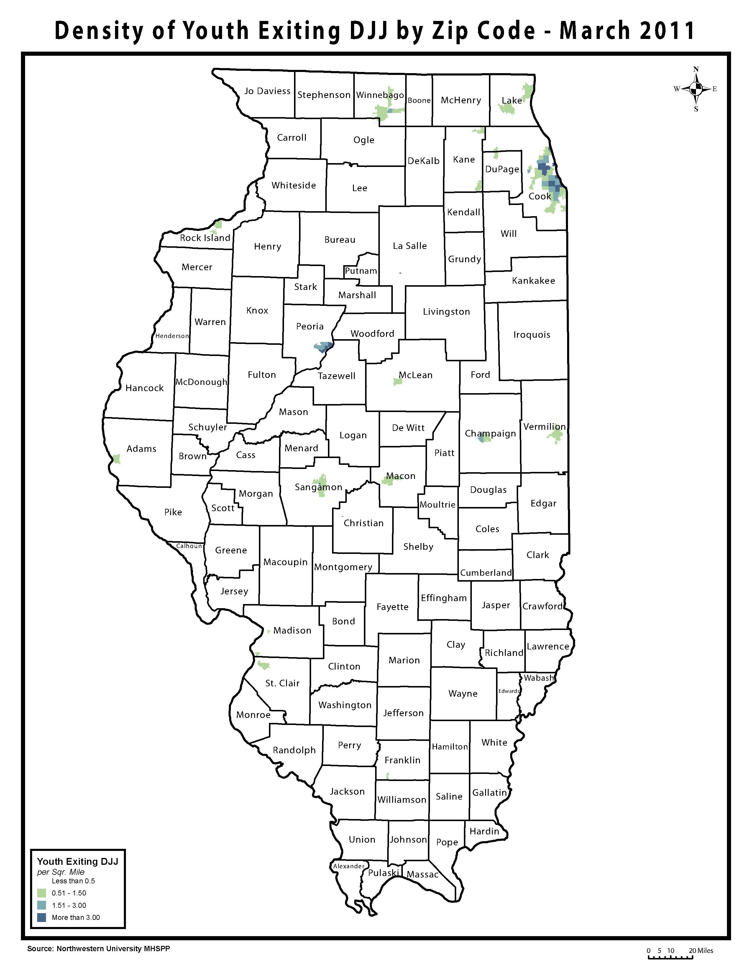 Youth On Parole In Illinois Maps