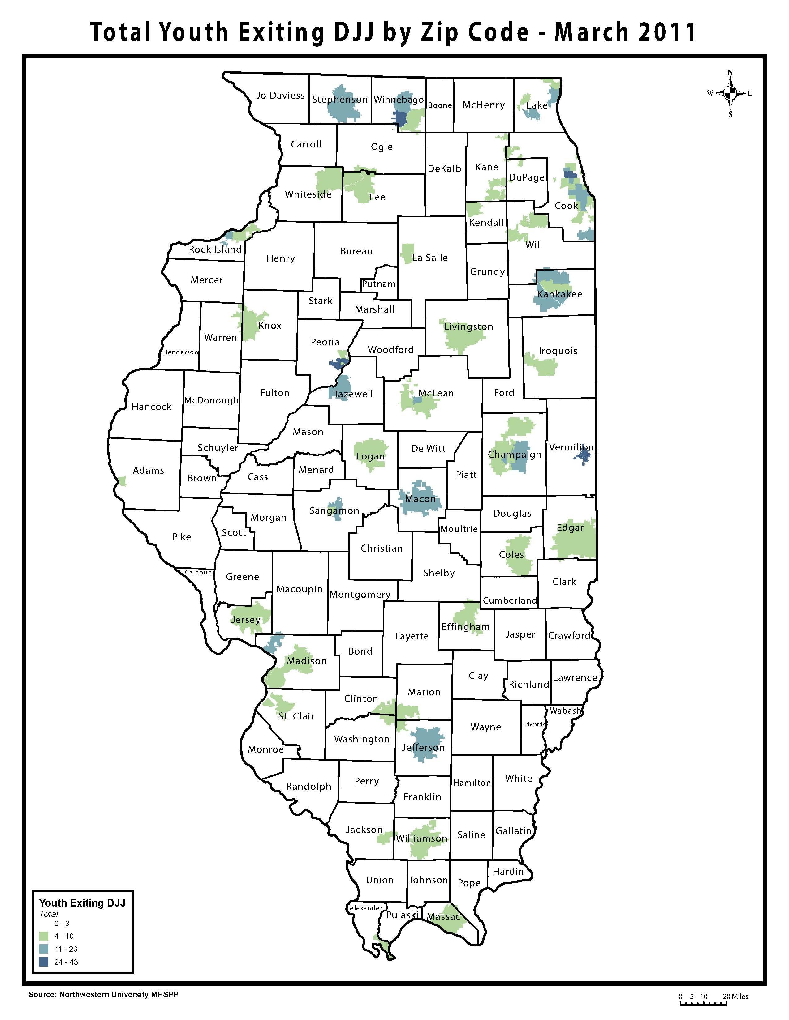 Zip Codes Illinois Map