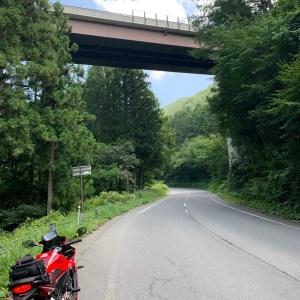 志賀草津道路のループ橋にてwith CBR650R