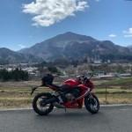 秩父・寺坂棚田から武甲山の眺めwith CBR650R