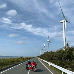 渥美半島西端を走るシーサイドライン「風車ロード」にてwith CBR650R②