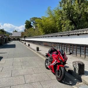長野市松代町の古き良き街並みwith CBR650R「真田邸」
