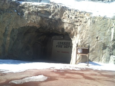 Creede is an old mining town. Their fire department is built underground.