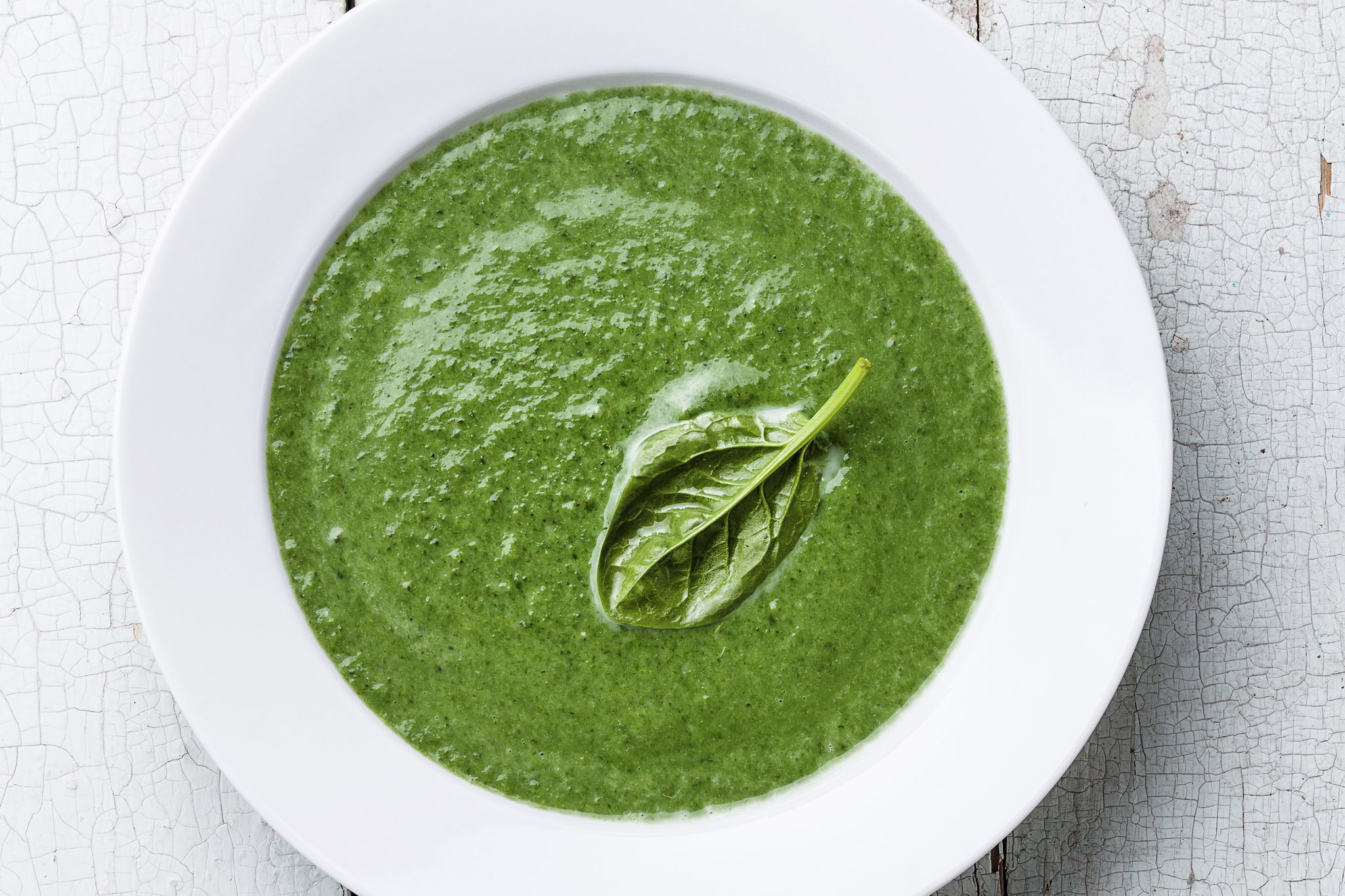 Spinach, Kale & Watercress Soup