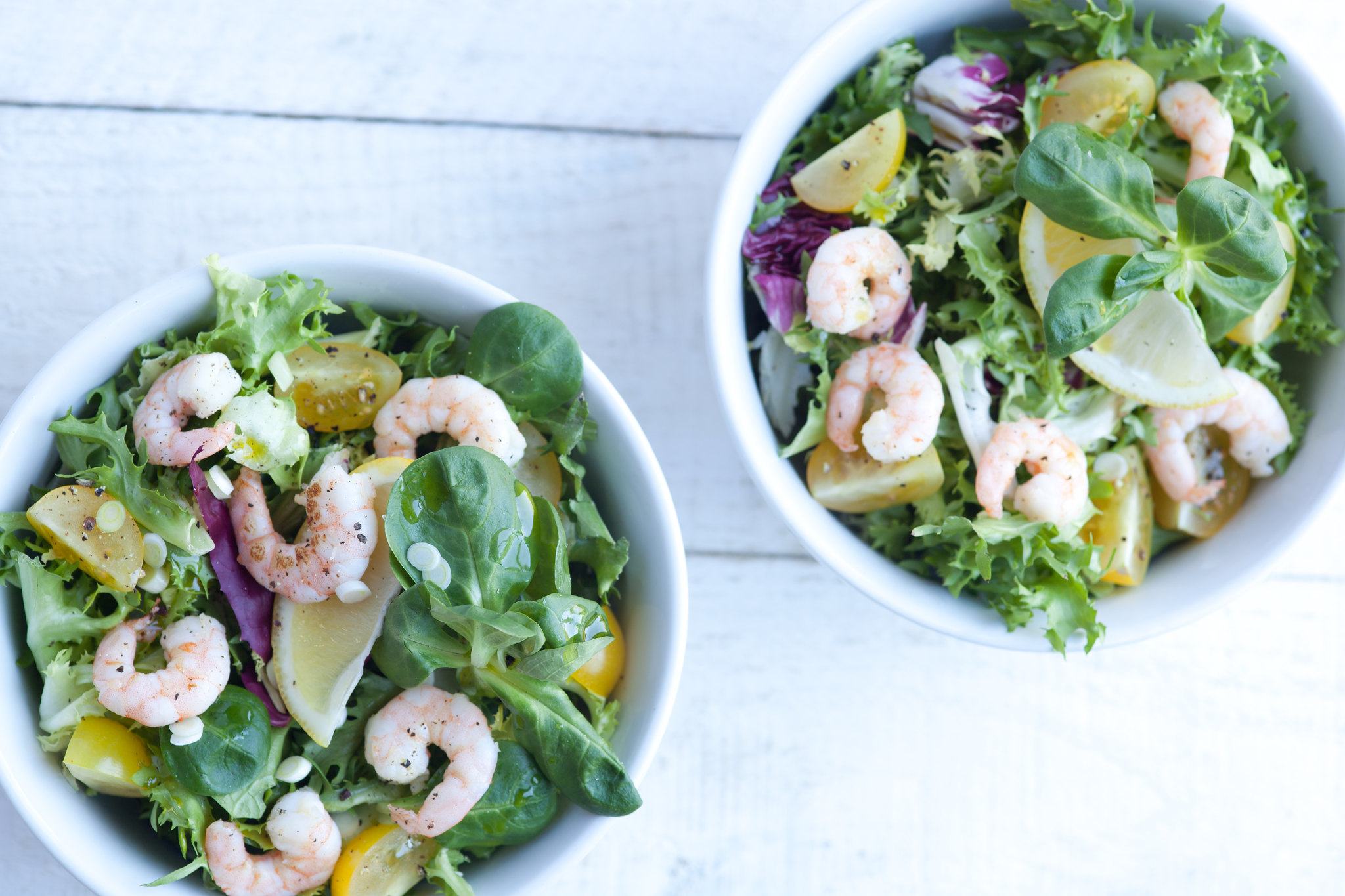 Prawn Salad with Green  Mint Dressing
