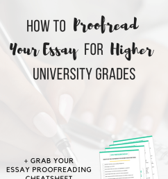 How to Proofread Your Essay for Higher University Grades -  ChloeBurroughs.com [ 1102 x 735 Pixel ]