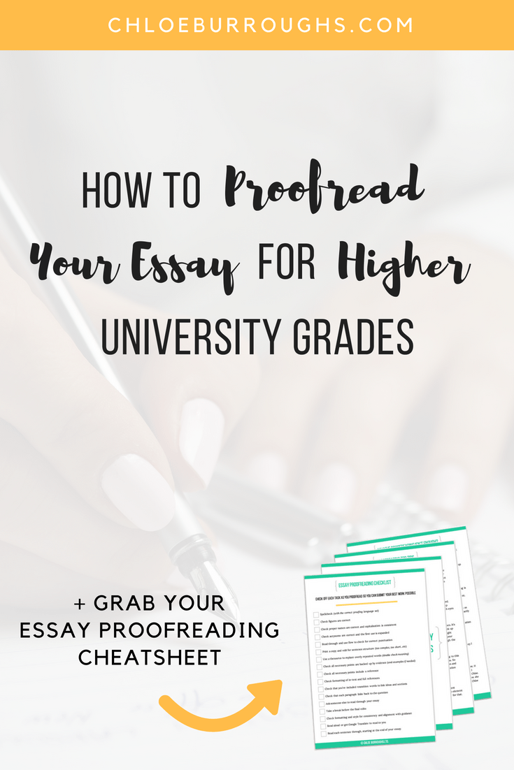 hight resolution of How to Proofread Your Essay for Higher University Grades -  ChloeBurroughs.com