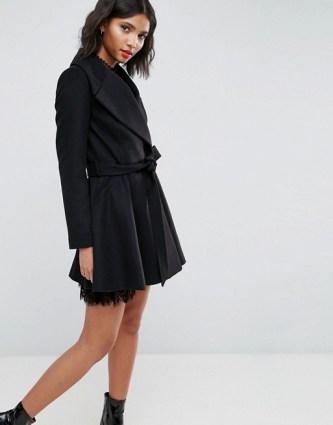 Black Skater Coat