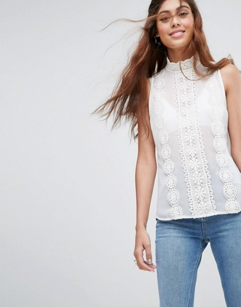 Lace Sleevless Blouse