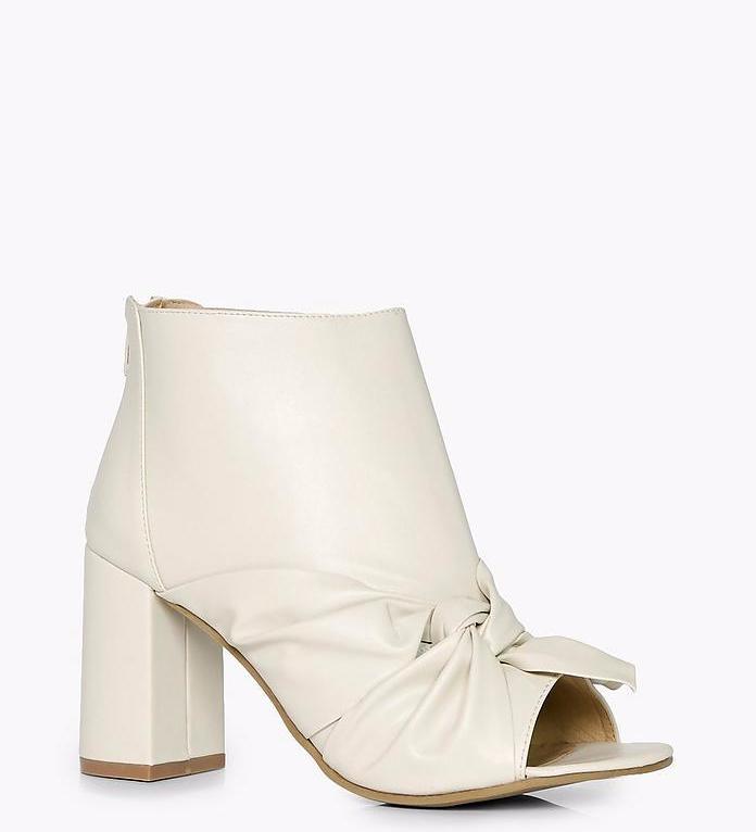 Cream Boots