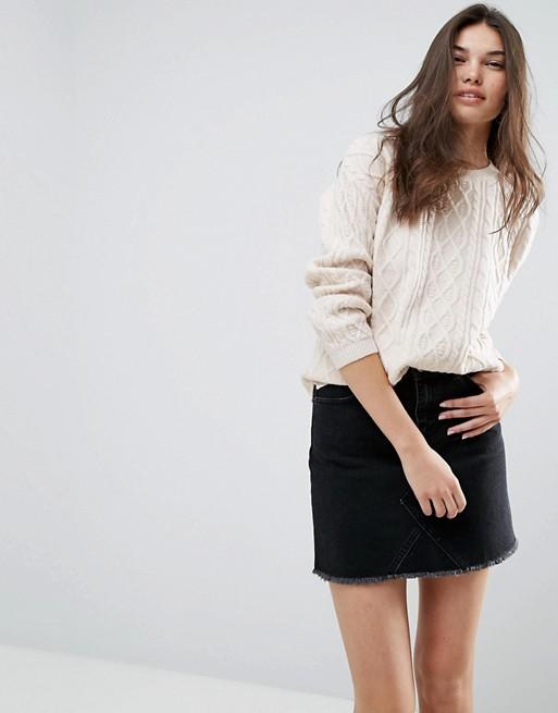 Cream Knitted Jumper