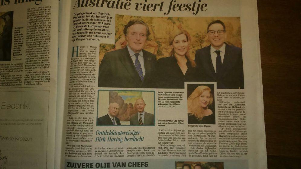 Article   Telegraph   Netherlands   February 2016