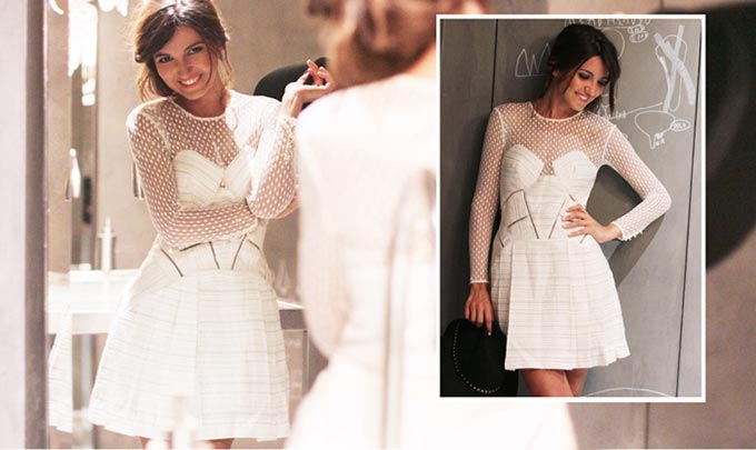 robe blanche skater lovely pepa