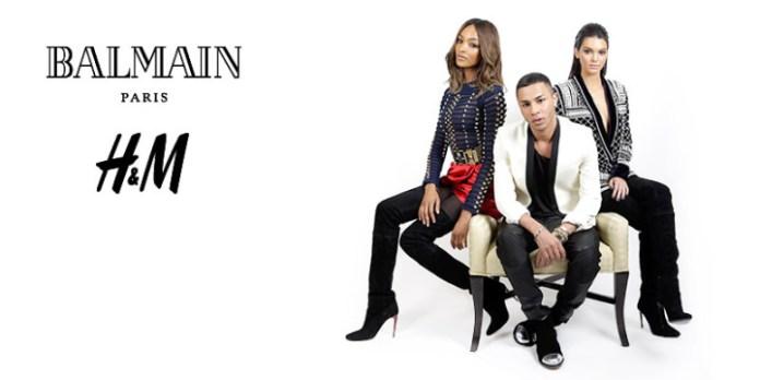 Kendall Balmain h&m 1