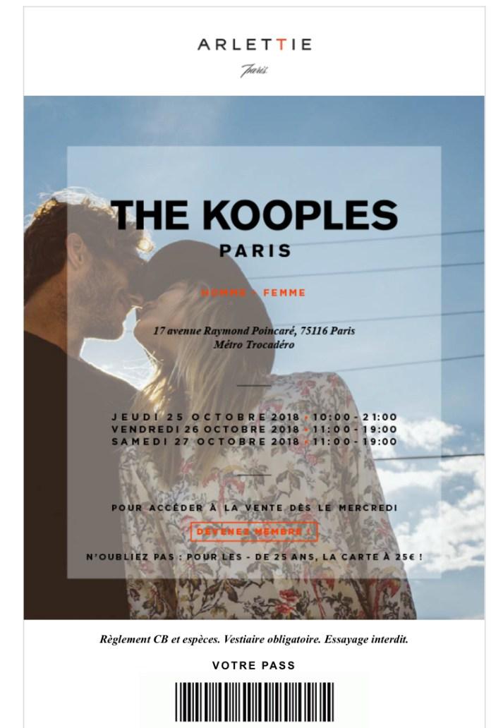 vente privée The Kooples hiver 2018