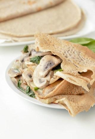 Chandeleur : Crêpes Sarrasin champignons