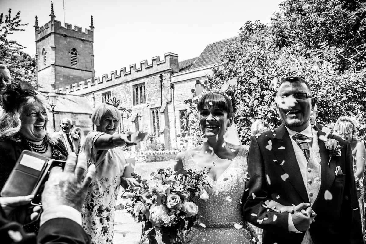 Wedding confetti Glasgow wedding photographer. Scotland wedding photographer
