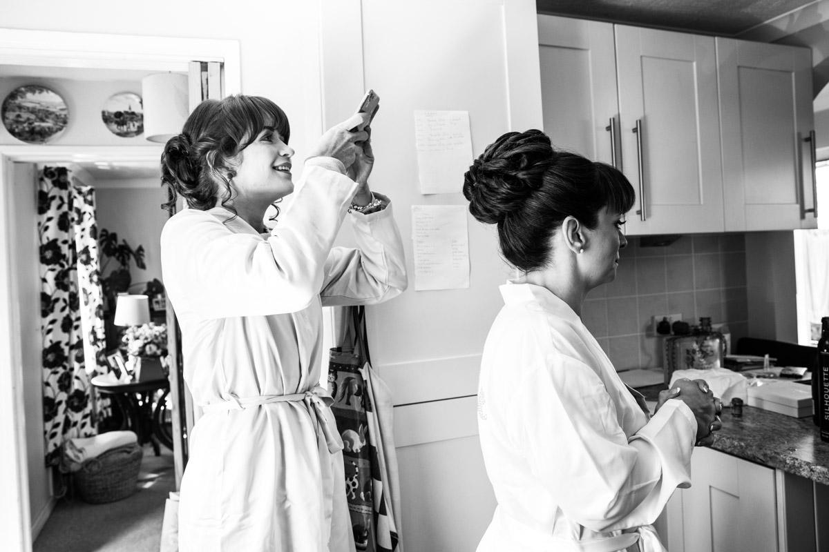 Morning of the wedding. Scotland wedding photographer. Scotland documentary wedding photographer.