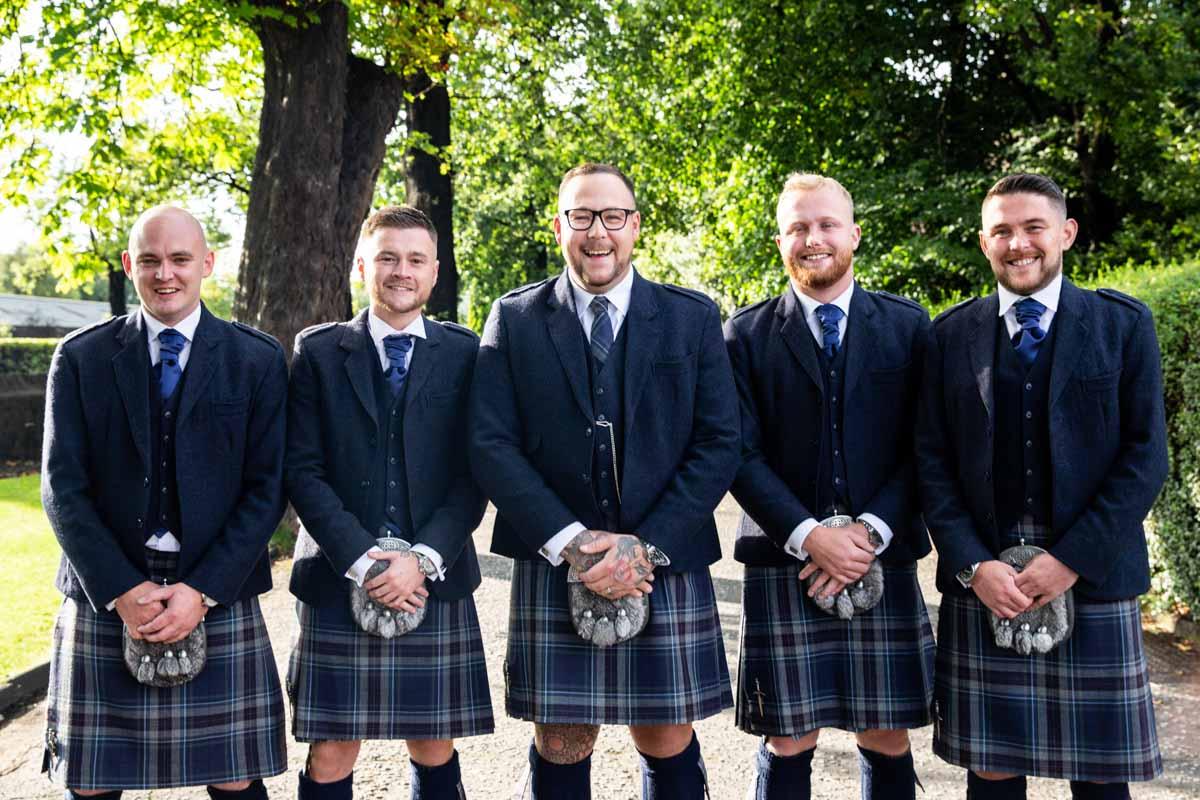 Dumbuck Hotel wedding photography. Best Scottish wedding photographer Glasgow