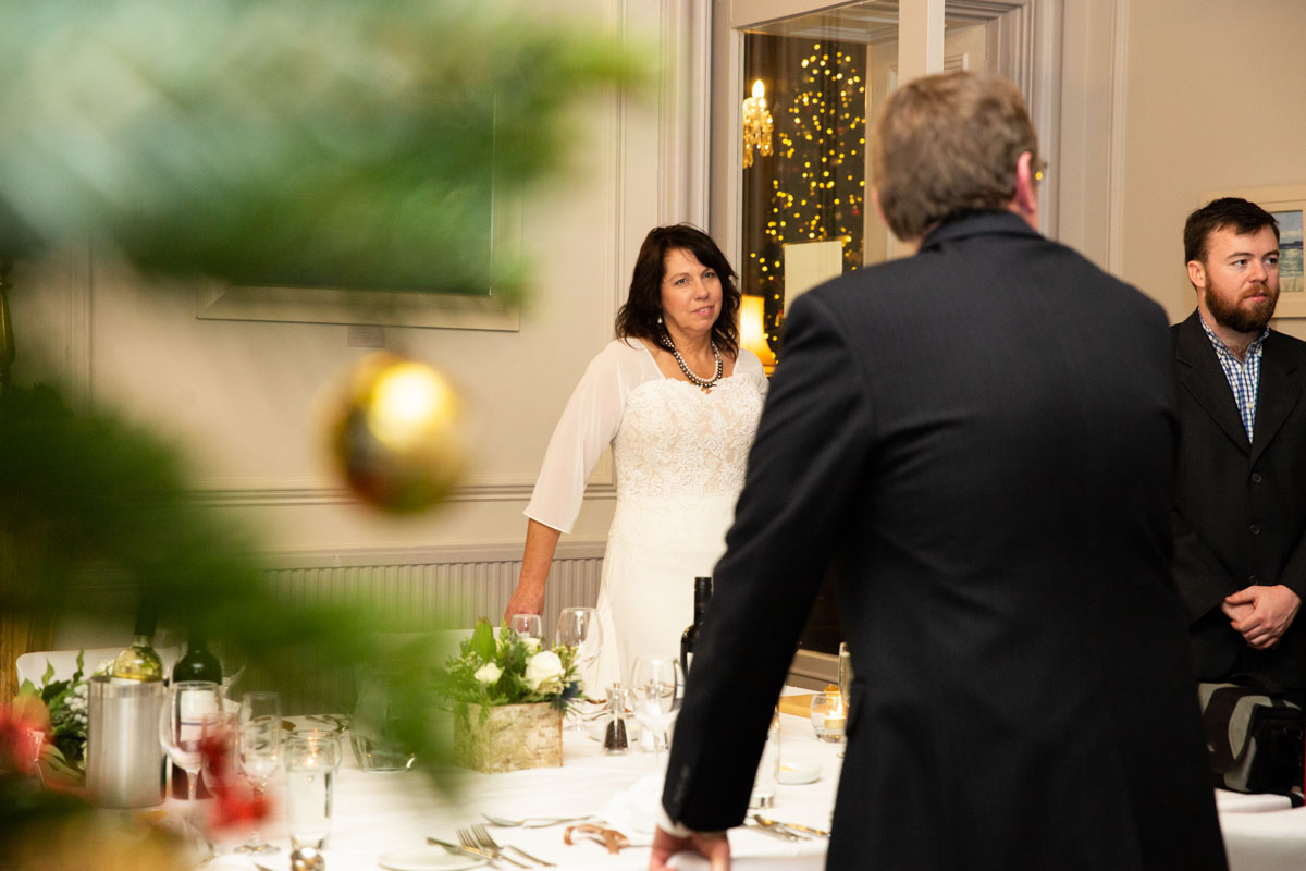 festive wedding at Stonefield Castle