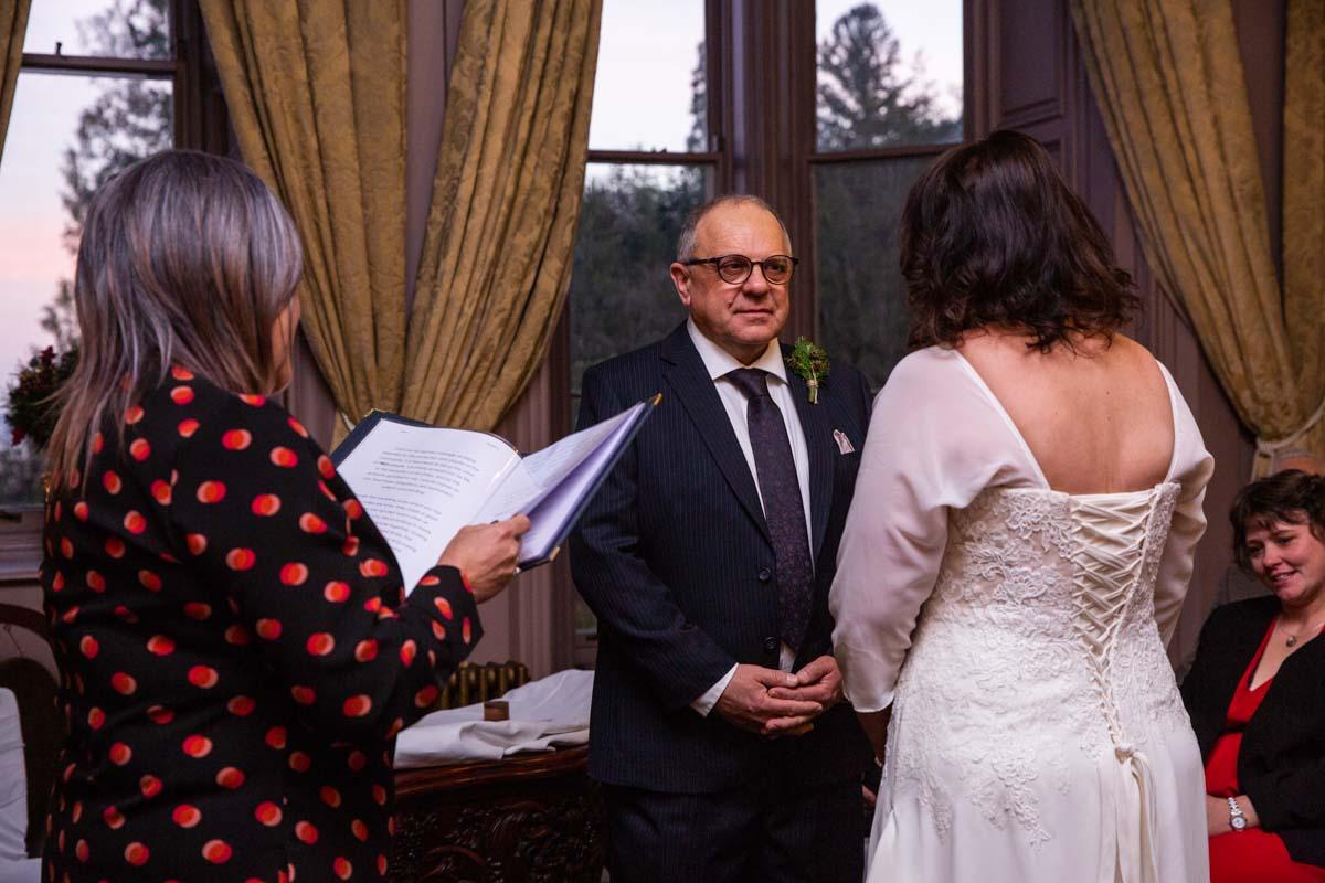 Stonefield Castle wedding photography of wedding ceremony