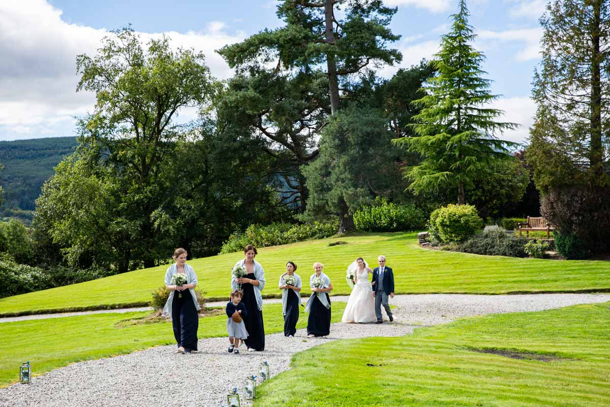 Outdoor wedding ceremony at Forest Hills Hotel & Spa