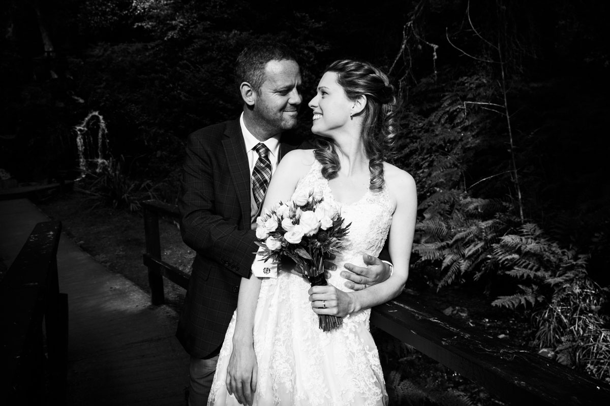 Bride and groom at MacDonald Forest Hills Hotel
