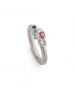 pink and blue sapphire pinkie ring £160