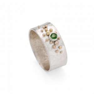 sterling silverband with peridot and granulation detail £200