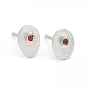 silver inclusion studs with ruby £80