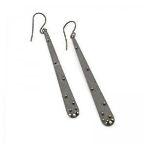 sterling silver oxidised earring ££