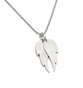 matte silver angel wing necklace £80 (available in polished hammered texture also)