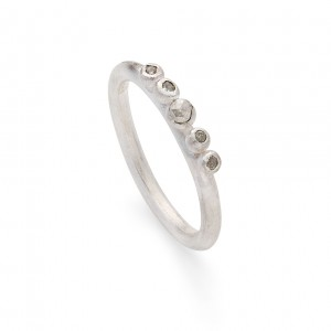 natural diamond granulation ring (sterling silver) £240