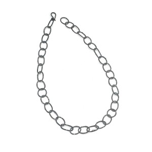 oxidised silver chain with granulation detail £170