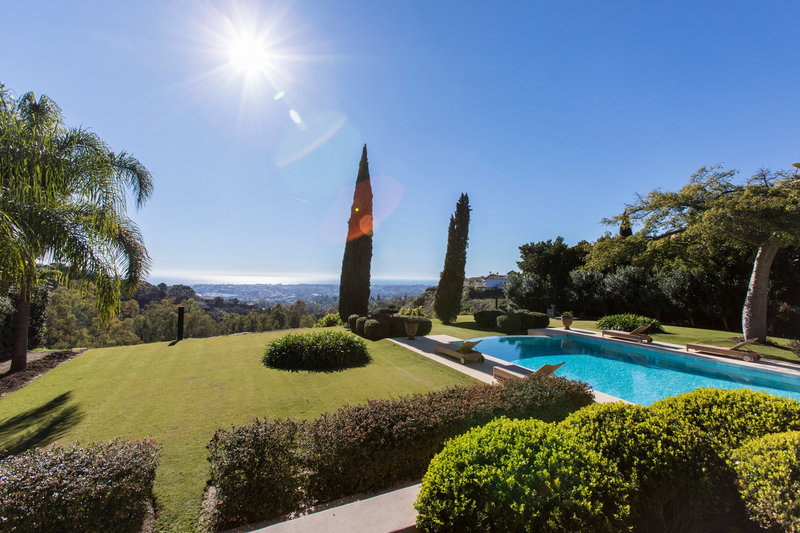 Pool and views of Spectacular villa in Benahavis