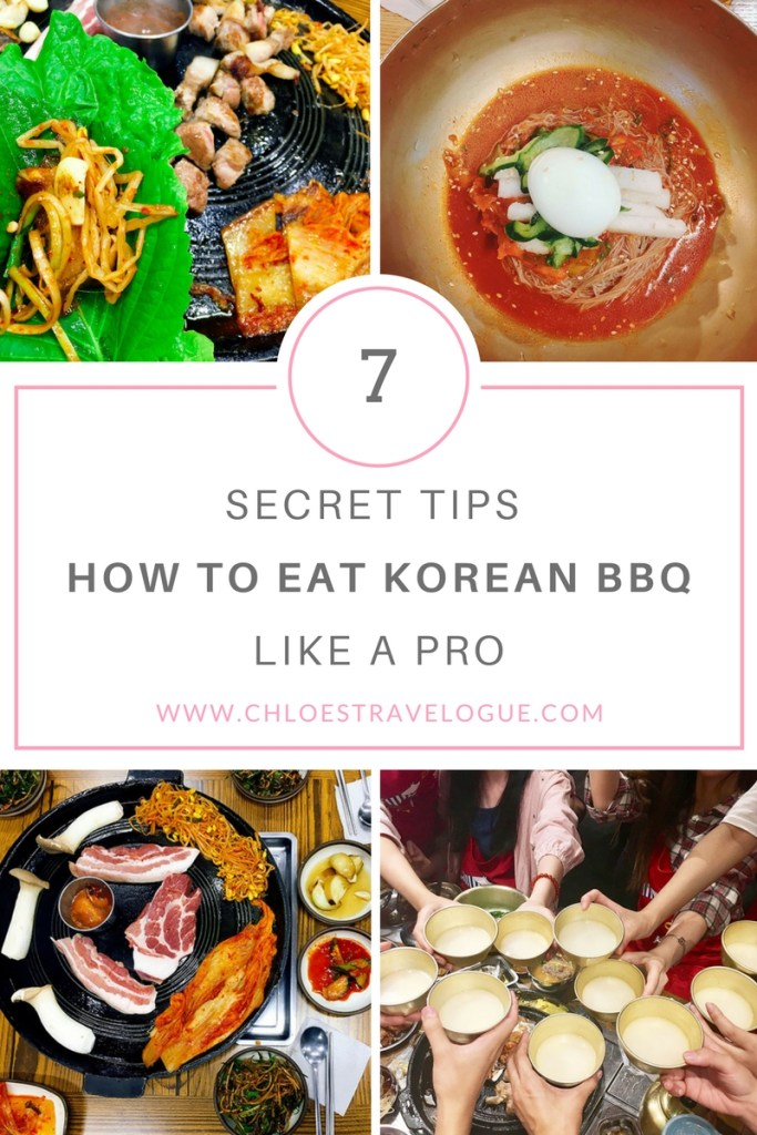 How to Eat Korean BBQ like a Pro | Secret Tips from a local | www.chloestravelogue.com #food #BBQ #Korea #TravelAsia
