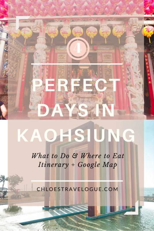 4 Day Itinerary in Kaohsiung Taiwan